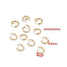 100 pçs ouro 304 anéis de salto de aço inoxidável para fazer jóias pulseira diy acessórios componente reparo aberto