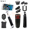 HD 12X Zoom Telephoto Lens Fisheye Wide Angle Macro Lentes For IPhone Cell Phone Lenses Telescope