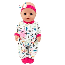 Born New Baby Fit 18 inch 43cm  Clothes For Doll Yellow and Black Fish Red HairHand Clothes Accessories For Baby Birthday Gift born new baby fit 18 inch 43cm clothes for doll blue pink red star with hairhand clothes accessories for baby birthday gift