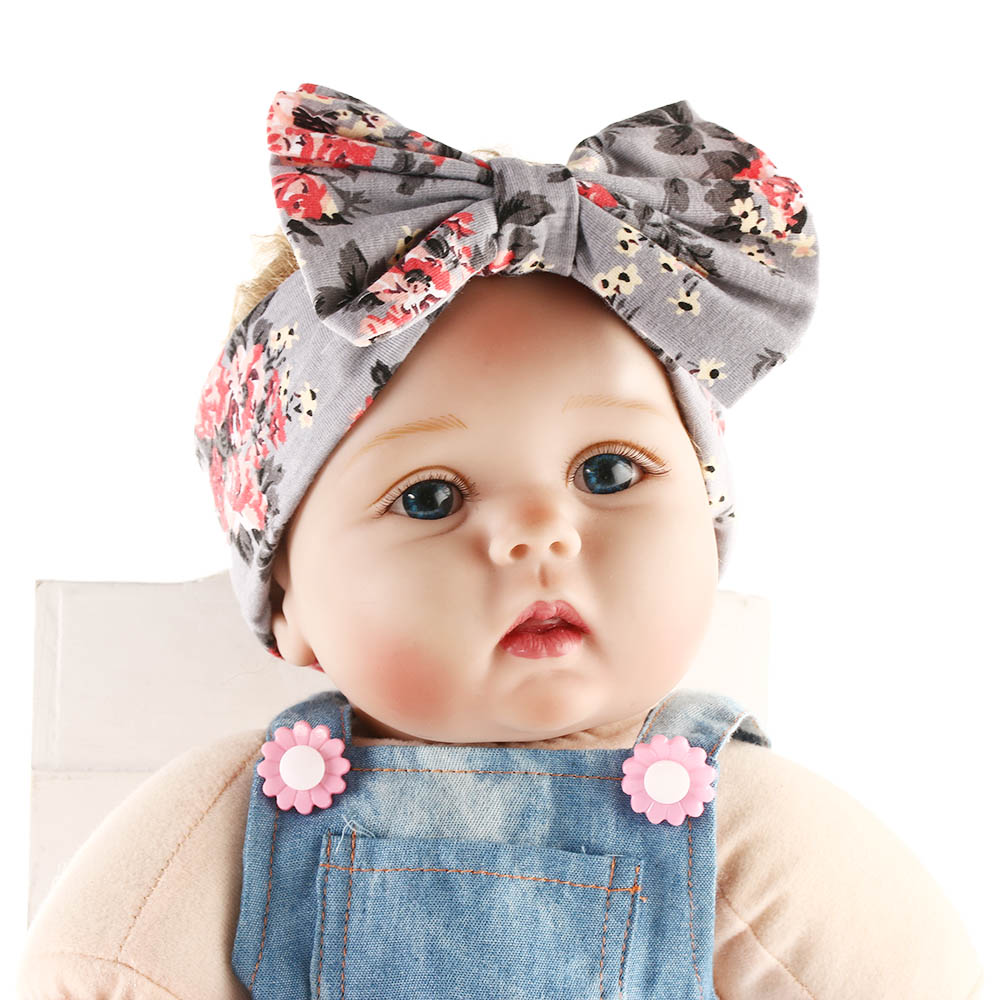 Mom and Me Headband Baby Girl Elastic Bow Floral Flowers Headband Turban Knot Rabbit Headwrap Photo Prop Gift for Mom and Baby