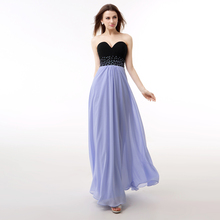 Real Sample Lavender Color Evening Dresses Chiffon