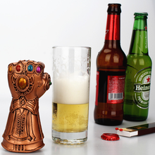 6pcs Creative Fist bottle opener Vintage energy gem beer High Quality For party Kitchen Tools Avengers 4