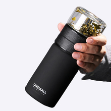 Thermos Mens Cup Office Portable Large Capacity 304 Stainless Steel Tea Separation Bottle 600ml