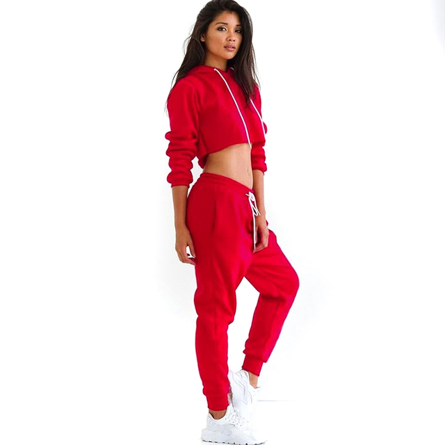 Fashion Style Sexy Hooded Sportswear Two Piece Set Popular 2 Piece suit Slim Suit Length Casual Rompers Sweat Suit Jumpsuits