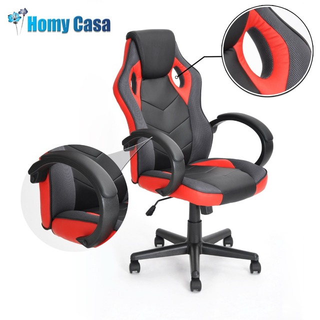 HOMY CASA Rglable Hauteur Inclinable Chaise De Bureau Jeu Fauteuil Ordinateur Gamer Course