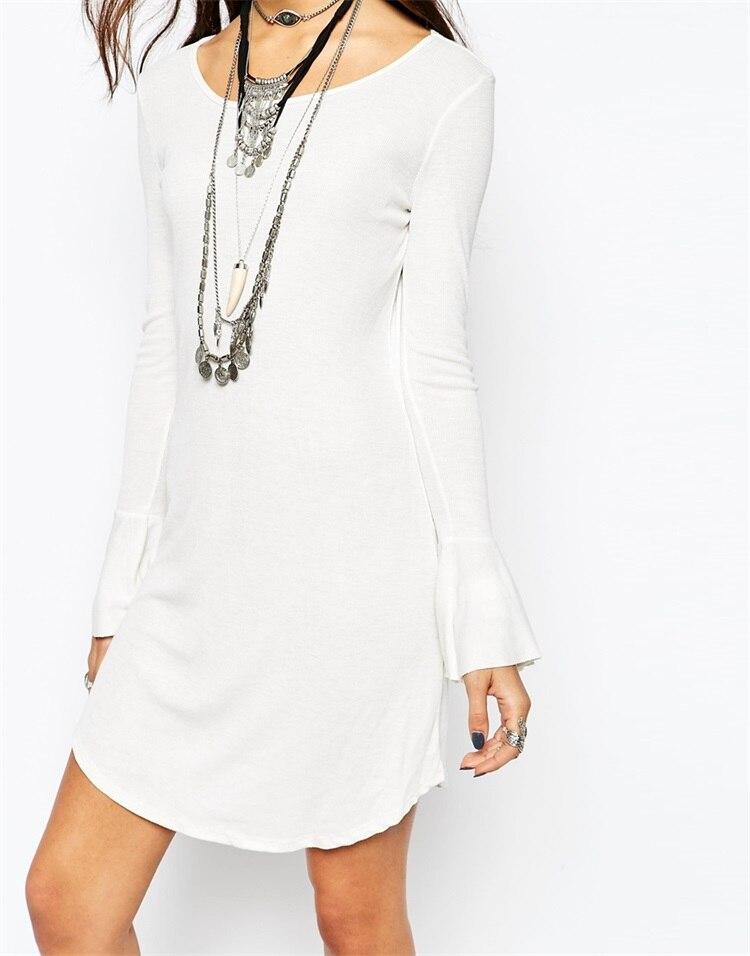492944f70d 2015 para mujer moda otoño lindo Jersey vestido blanco sin espalda otoño de  manga larga prendas de punto Vestidos Vestidos de punto del suéter en  Vestidos ...