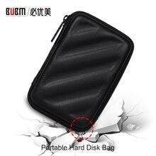 BUBM портативный 2,5 дюймов футляр для внешнего жесткого диска, жесткий EVA чехол для переноски жесткий футляр для дисков Кабельный органайзер USB кабель сумка для наушников