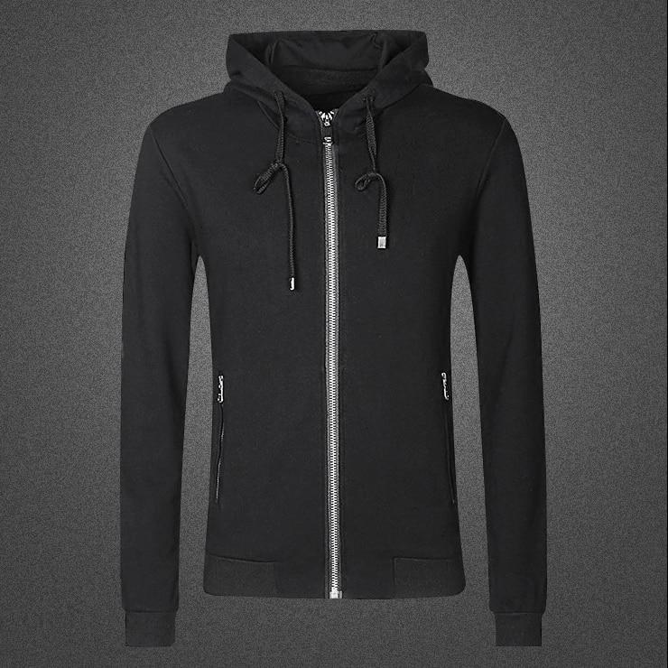 Men winter casual cotton new sweatshirts metrosexual men hoodies slim thick solid hip hop brand design zipper fashion hoodies