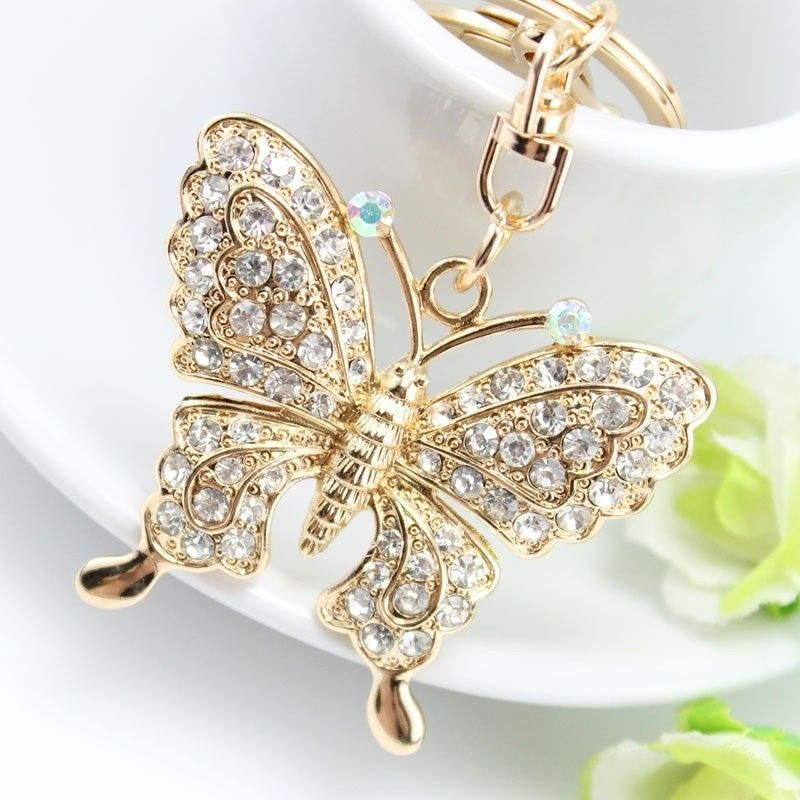 1pc beautiful rhinestone butterfly jewelry keychain women keys 1pc beautiful rhinestone butterfly jewelry keychain women keys holder chain ring bag pendant in key chains from jewelry accessories on aliexpress mozeypictures Gallery