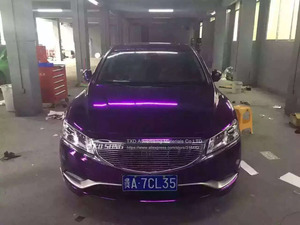 Image 5 - Good quality High stretchable Waterproof UV Protected Purple Chrome Mirror Vinyl Wrap Sheet Roll Film Car Sticker Decal Sheet