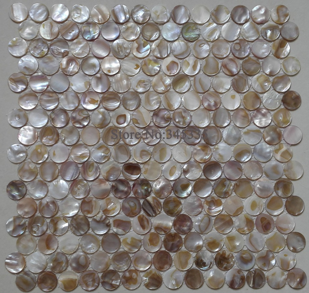 Penny round colorful shell mosaic tile mother of pearl kitchen shower  background bathroom backsplash decorative wall paper. Online Get Cheap Penny Tile Bathroom  Aliexpress com   Alibaba Group