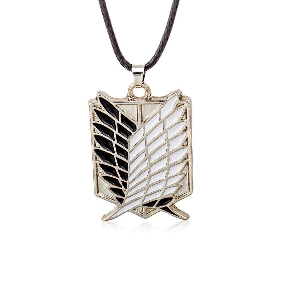 Men Choker Necklaces Stainless Steel Vintage Gothic Feather Angel Wing Pendants Silver Tone Chockers Kettingen Jewelry