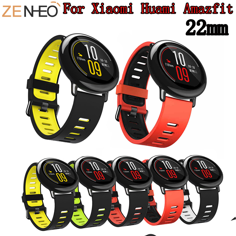 22mm Strap For Xiaomi Huami Amazfit Pace Band Replacement Silicone Wrist Bands For Samsung Gear S3 Frontier Classic Watch Strap