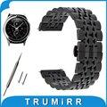 20mm de acero inoxidable reloj band para samsung gear s2 classic R732/R735 Mariposa Hebilla de Correa de Liberación Rápida Correa de Muñeca pulsera