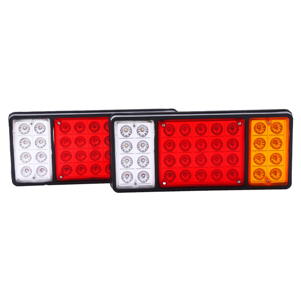 2 x 12V 36 Tail Brake Light LED Tail Lights Rear Brake Lamp Stop Turn Indicator For Car Truck Trailers Van Reverse Indicator 12v 3 pins adjustable frequency led flasher relay motorcycle turn signal indicator motorbike fix blinker indicator p34