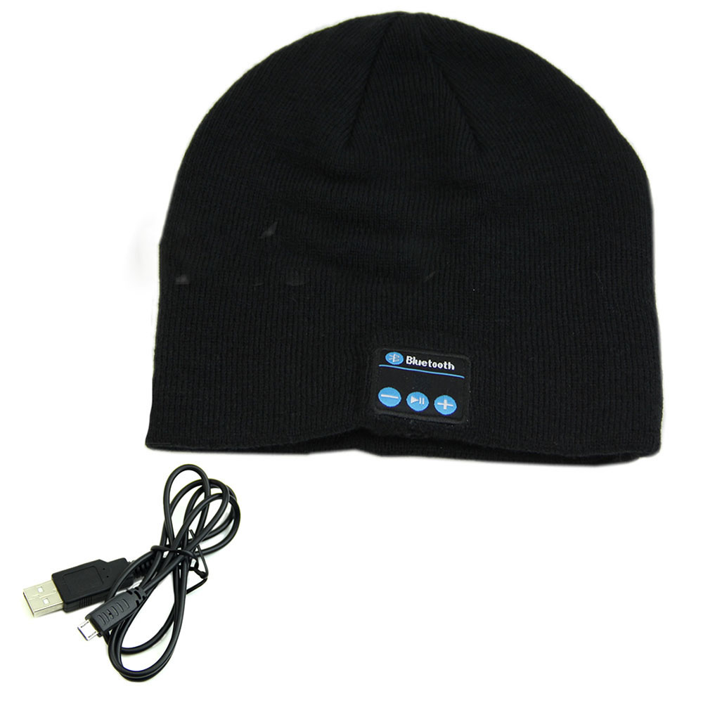 Warm Smart Bluetooth Cap Soft Beanie Hat Wireless Headphone Headset Speaker Mic