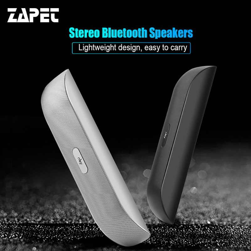 ZAPET nby-008 Bluetooth Speaker Portable Wireless Speaker Mini Stereo with USB HD Micphone Support TF FM Radio for smartphone tronsmart element t6 mini bluetooth speaker portable wireless speaker with 360 degree stereo sound for ios android xiaomi player