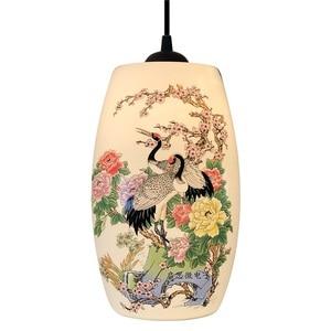 Image 1 - Novo chinês pingente lâmpada para cozinha sala de jantar sala estar suspensão luminária pendurado cerâmica quarto lustres luminárias