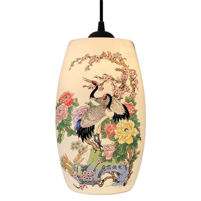 Novo chinês pingente lâmpada para cozinha sala de jantar sala estar suspensão luminária pendurado cerâmica quarto lustres luminárias