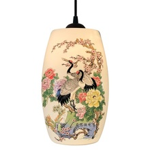 Nowa chińska lampa wisząca do kuchni jadalnia oprawa wisząca do salonu wiszące ceramiczne żyrandole do sypialni