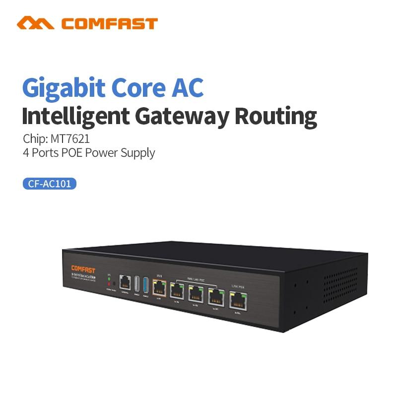 Comfast Gigabit AC Wifi Load Balancing Gateway Routing Core Gateway + 4 Port Poe Switch Multi Wan Wi Fi Roaming Access AC Router
