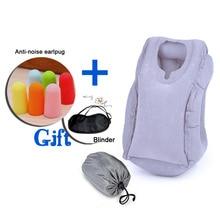 50*35 CM Almohada de Viaje Inflable Almohada para Cuello Almohada Coche Almohada de Viaje Avión de Aire Suave para Dormir Gafas de Tapones Para Los Oídos regalo