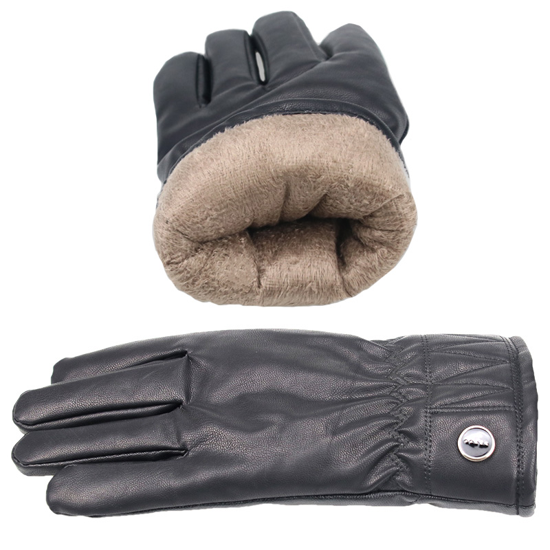 Cotton Thickened Warm Winter Snow Gloves For Women Men Black Plus Velvet Driving Gloves Male Female Touch Screen Gloves Mittens Men's Gloves