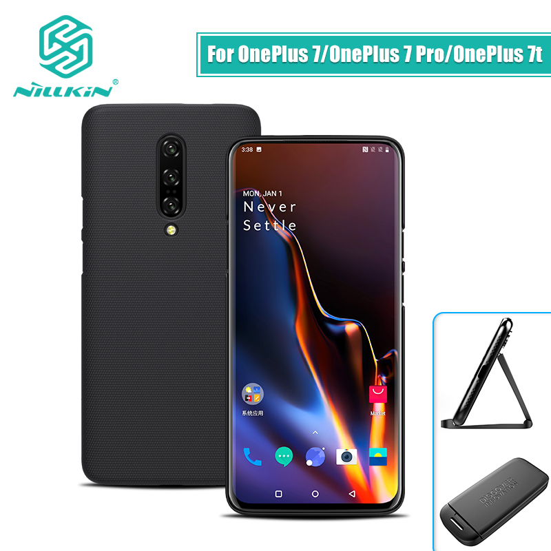 OnePlus 7 case cover NILLKIN Frosted PC Matte hard back cover Gift Phone Holder one plus For Oneplus 7 pro case oneplus 7t case