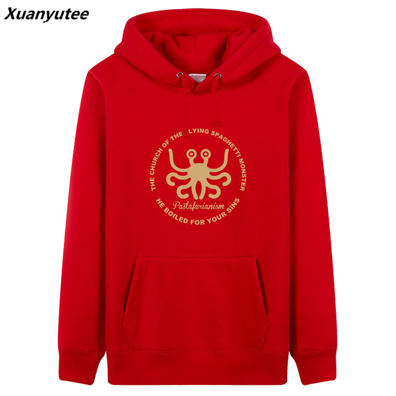 Xuanyutee The Church Of The Flying Spaghetti Monster Men Hoodie Game Fans Pullover Fleece Cotton O-neck Full Sleeved Sweat Homme