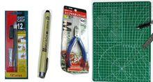 Gundam Model 0.05 liner Marker pen Craft Knife cutter Mat tweezer tool set mg rg