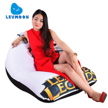 LEVMOON Beanbag Sofa Chair legends WOMEN Seat Zac Comfort Bean Bag Bed Cover Without Filler Cotton Indoor Beanbag Lounge Chair(China)