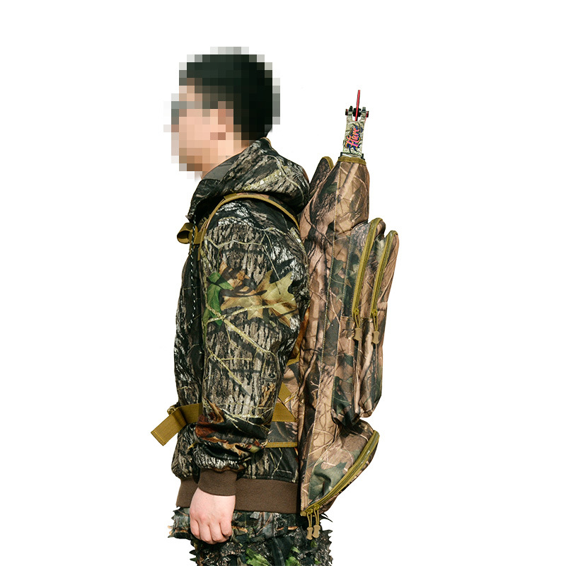 1pc Top Opening Universal Compound Bow Bag Length 72cm in Camo with Two Shoulder Straps Backpack for All Style Compound bow