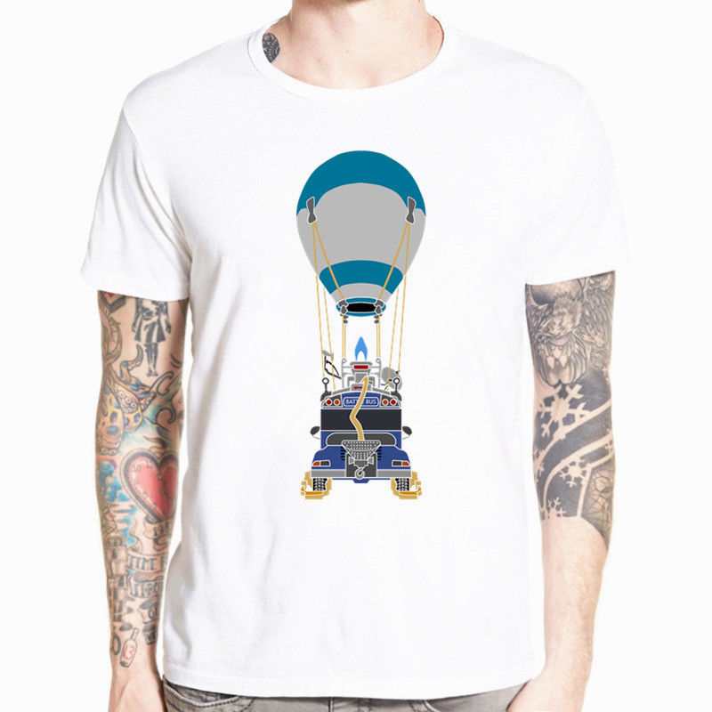 Fortnite Air Bus T-Shirt Battle Royale Gamer Video Game Short Sleeve Tee New Men 2018 Br ...