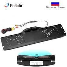 Podofo Универсальный 12 Светодиодный свет Автомобильная камера заднего вида IP66 мини Автомобильная ступица переднего использования парковочной Камера 170 Широкий формат HD Цвет Водонепроницаемый
