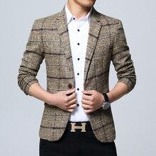 2019 New Men's Fashion Boutique Plaid Formal Business Suit Jacket Blazer / Men's Plaid Casual Suits Coat / Size S-5XL Male Suit