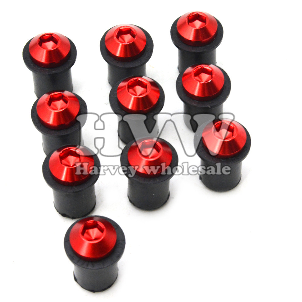 10pcs 5mm Motorcycle CNC Windscreen Windshield Bolts Screw Kit for DUCATI HYPERMOTARD 1100/S/EVO SP HYPERMOTARD 939 SP S4RS