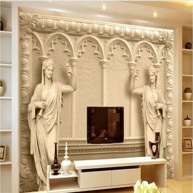 Beibehang Custom tapete 3d sandstein relief skulptur sandstein ...