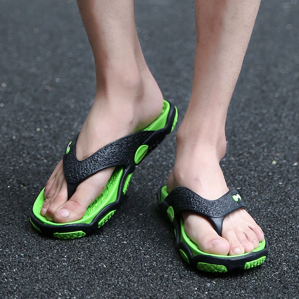 Flip Flop Slippers Massage Bathroom Outdoor Men's Summer Fashion Patchwork