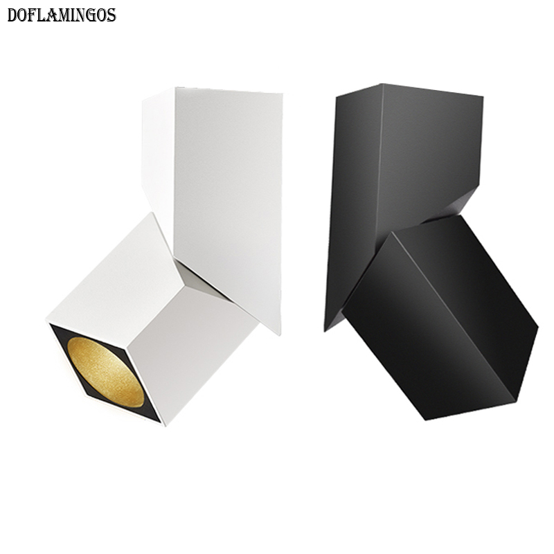 2018 NEW fashion Art cube Ceiling Surface Mounted RA93 7W 12W 15W CREE LED Downlight Light Adjustable irradiation angle