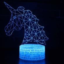 Unicorn Lamp Romantic Night light LED Table Lamp 3D LED Night Light Remote Control For Kids Christmas Gift Home Decoration D30