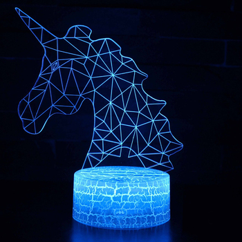 Unicorn Lamp Romantic Night light LED Table Lamp 3D LED Night Light Remote Control For Kids Christmas Gift Home Decoration D30 remote touch control 3d led night light led table desk lamp dolphin led night light color change 3d led light for kids gift 30