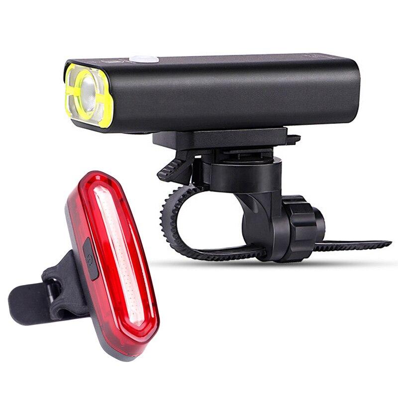 Vélo Torche Vélo De Route Lampe USB Rechargeable lampe de Poche LED Avant Lumière Arrière Lumière ALS88 bateau de RU dans Vélo lumière de Sports et loisirs