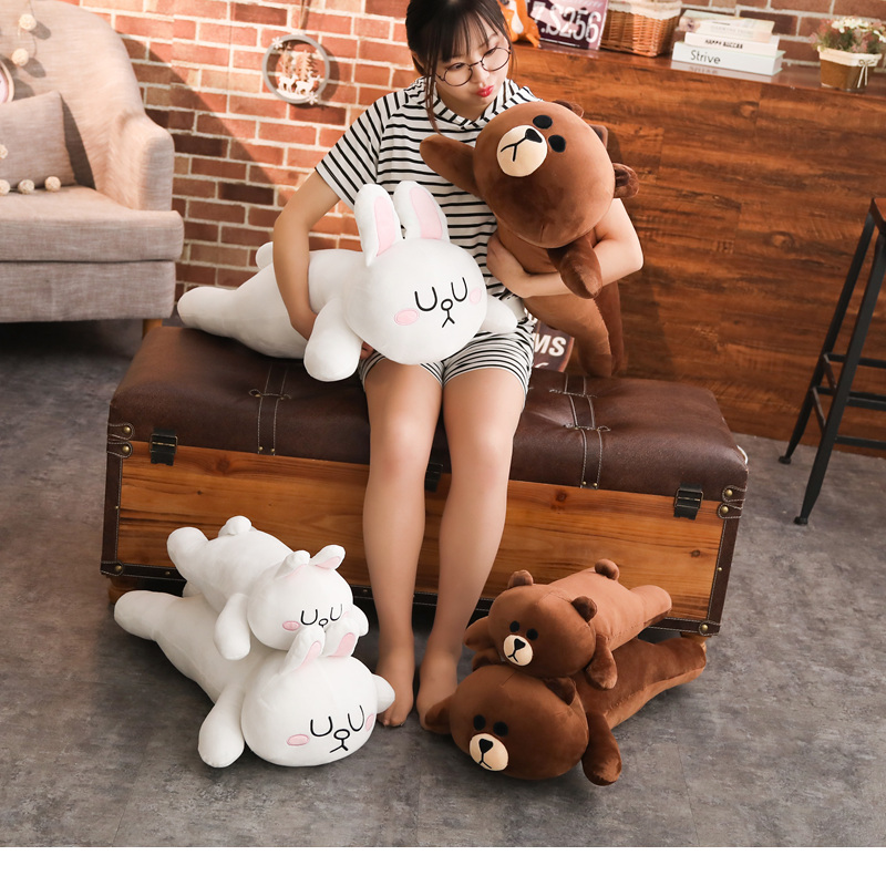 Classic cartoon Brown bear&cony plush toy Creative boutique doll kids sleep appease doll birthday/Xmas gift