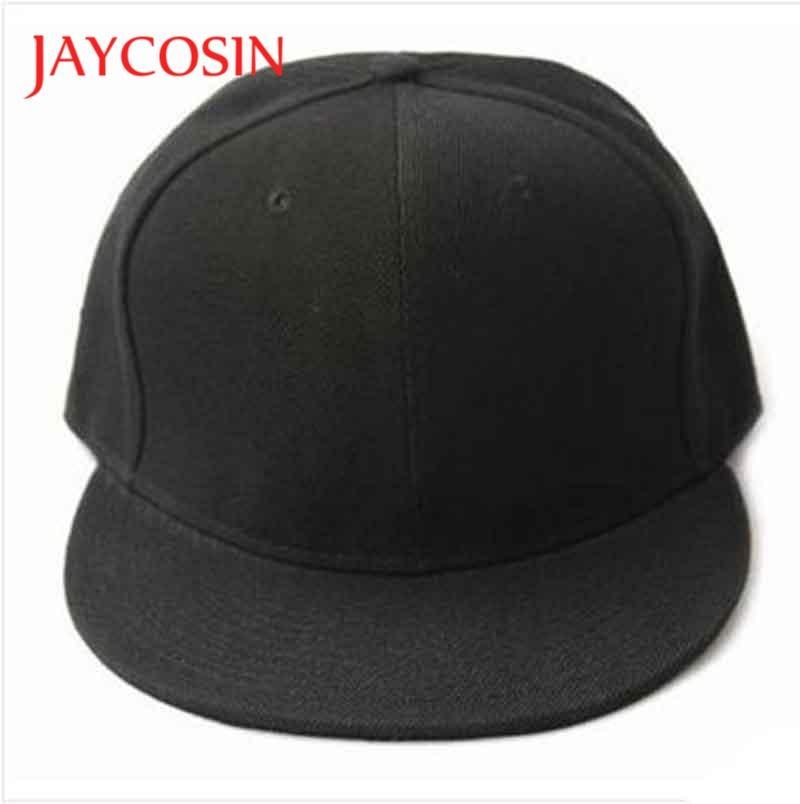 JAYCOSIN topi baseball Kasual topi Hitam Polos Kosong populer Snapback Topi  Hip Hop Bboy Disesuaikan Topi 962e6e0bf3