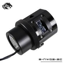 Bykski ШИМ Автоматическая скорость 18 Вт насос OLED термометр/Макс 5000 об/мин поток 1100л/ч совместимый D5 насос металлическая крышка размер 80*80*82 мм