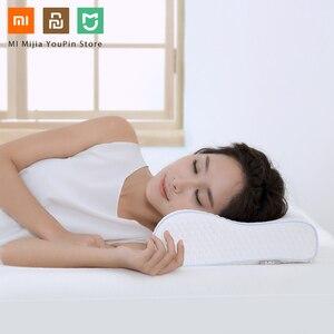Image 5 - Originele Xiaomi 8H Tri Gebogen Cool Gevoel Trage Rebound Geheugen Katoen Kussens H1 Super Zachte Antibacteriële Hals Ondersteuning kussens