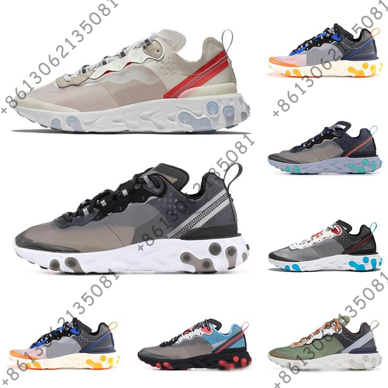React Element 87 Undercover running shoes for men women white black NEPTUNE GREEN blue mens trainer breathable sneakers