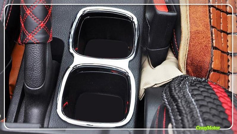 For Suzuki sx4 s-cross 2014-2018 ABS Chrome Car Interior Water Cup Holder cover trim sticker Auto accessories