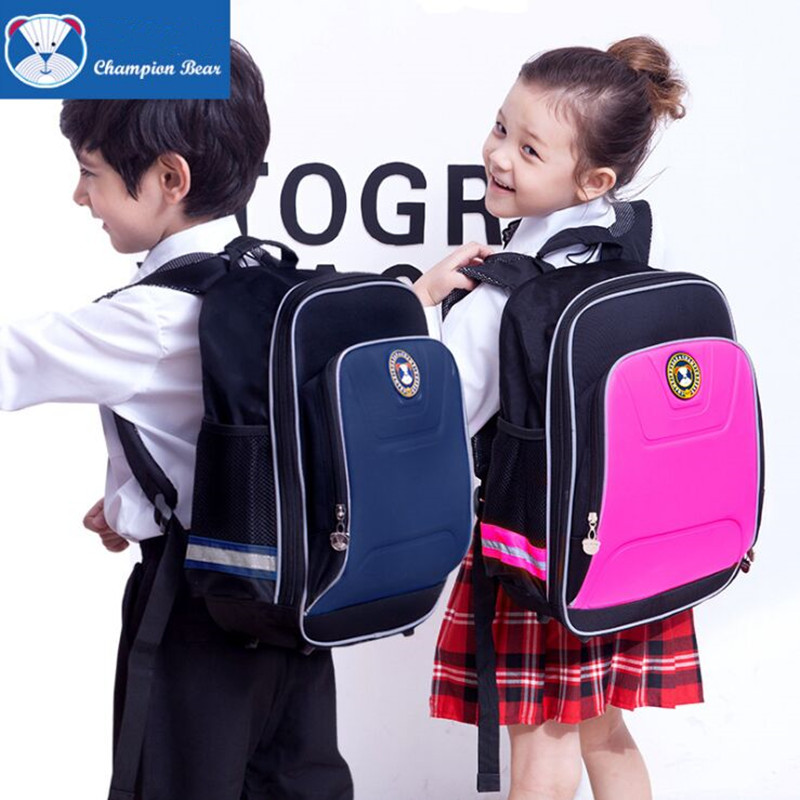 ec53319295 Champion Bear 2 Sizes Boys School Bags Girls Waterproof Oxford Orthopedic  Children Schoolbag Backpack Kids Bag Mochila Escolar-in School Bags from  Luggage ...