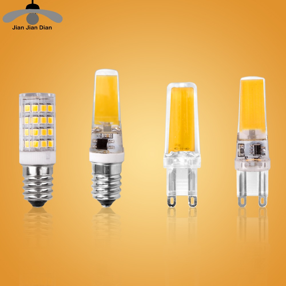 Led G4 G9 E14 Lamp Bulb Dimming Lighting AC DC 12V 220V 3W 6W 9W COB SMD Replace Halogen Lights Spotlight Bombillas Chandelier iminovo 20 pack e14 led light bulb ac 220v 6w 2835 smd ceramics spotlight replace halogen spotlight chandelier warm cool white